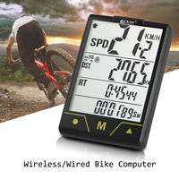 Bicicleta multifuncional velocímetro para computador de bicicleta sem fio/com fio backlight à prova dwireless água ciclismo odômetro com sensor cadência