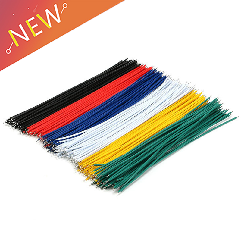 100PCS/LOT Tin Plated Breadboard PCB Solder Cable 24AWG 8cm