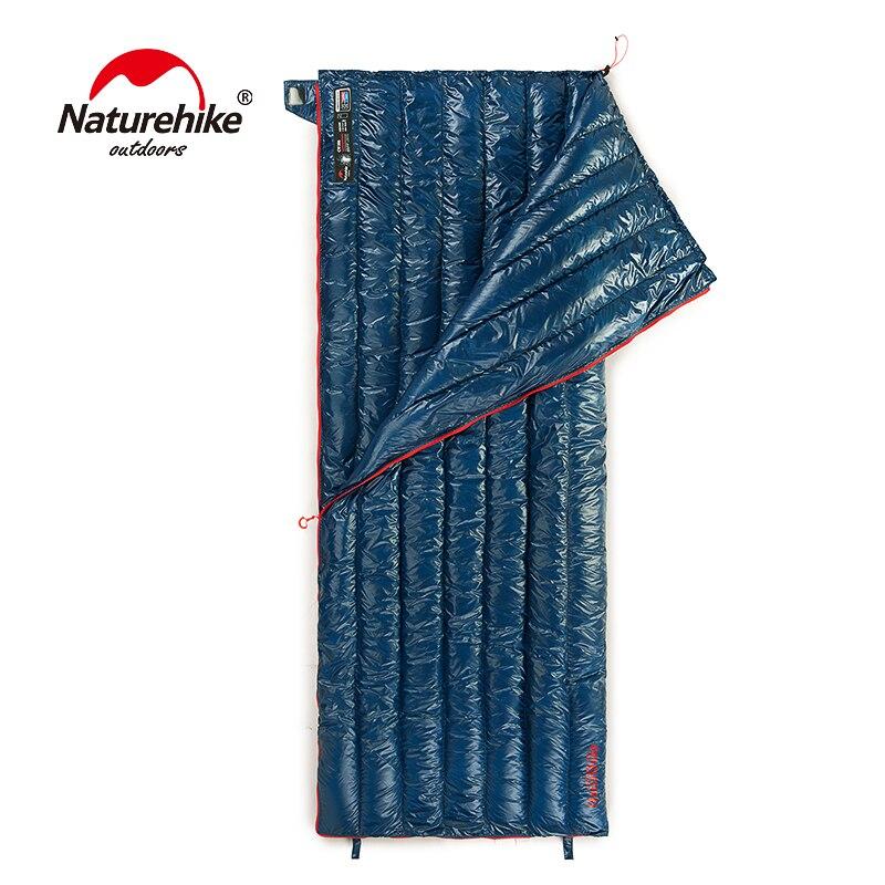 Naturehike CWM400 Ultra-Léger Type D'enveloppe sac de couchage En Duvet D'oie sac paresseux sacs de couchage de camping 790g NH17Y010-R