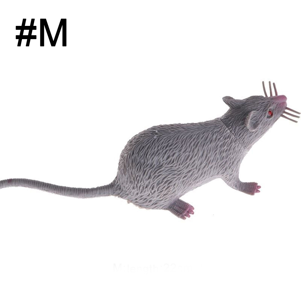 1 Piece Mouse Plastic Rats 22x4.2cm Simulation Rodents Animals Model Party Jokes Toy Mouse Props Tricky Toy Free Shipping Possessing Chinese Flavors