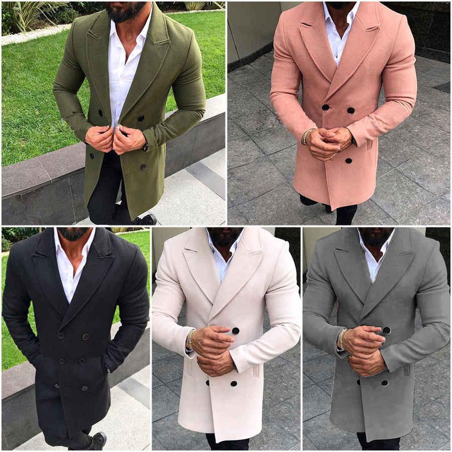 THEFOUND повседневное для мужчин's тренчи для женщин одноцветное пальто теплая утепленная куртка шерстяное Peacoat длинные пальто теплое блейзер