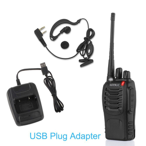 Image 5 - eSYNiC Walkie Talkie UHF 400 470MHZ 5W16CH 2 Way Radio BF 888S Portable radio Antenna With USB Charger Two Way Walkie Talkie