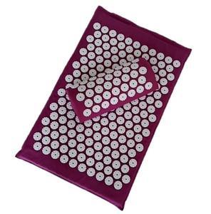 Image 2 - Cojín de acupuntura para masaje, esterilla de acupuntura para aliviar el dolor corporal y espalda, (aprox. 62x38cm)
