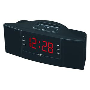 Image 1 - Portable Speaker Multi function LED Clock AM/FM Digital Radio Stereo Sounds Music Program Devices Dual Band Channel For Gifts