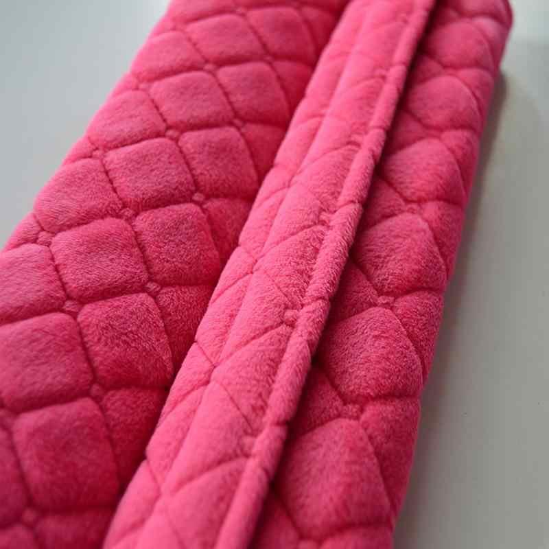 LumiParty cinturón de seguridad de coche almohadillas de hombro cubre cojín cálido corto de felpa de seguridad de protección de hombro cinturón de seguridad protector de hombro