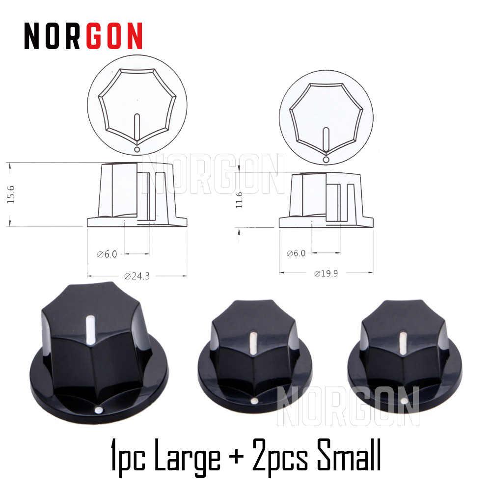 Norgon 3pcs กีตาร์ปุ่มควบคุม LP กีตาร์ไฟฟ้าอะไหล่เครื่องดนตรีปริมาณ/โทน