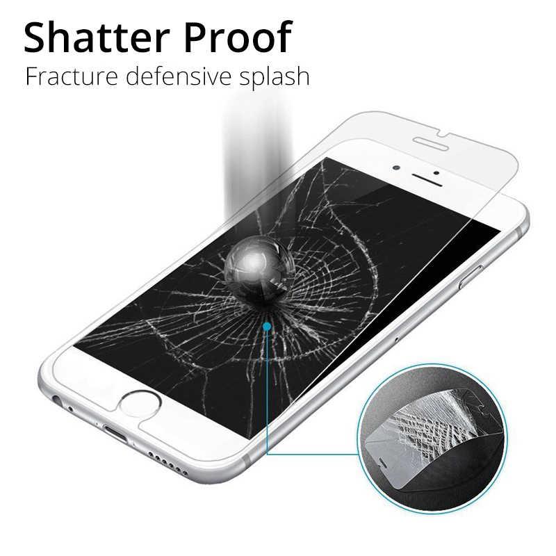 الزجاج المقسى آيفون 6 7 8 SE 6S 5s 4s واقي للشاشة الزجاج آيفون X XR XS ماكس طبقة رقيقة واقية آيفون 6 7 8 Plus