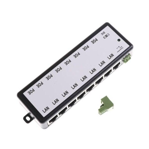 8 Ports POE Injector Splitter For CCTV Networks Camera Power Over Ethernet EM88