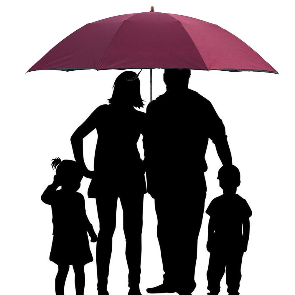 Useful Family Large Wind Resistant Folding Automatic Umbrella Rain Women Auto Luxury Big Windproof Umbrellas Rain For Men Black Coating Home