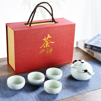 Chinese Ceramic Tea Set Tea Cup Quick Kettle Kung Fu Tea Set Set One Pot Four Cups crockery home decoration accessories