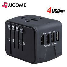 лучшая цена Travel Adapter International Universal Power Adapter Plug All-in-one with 3.4A 4 USB Worldwide Wall Charger for UK/EU/AUS/US