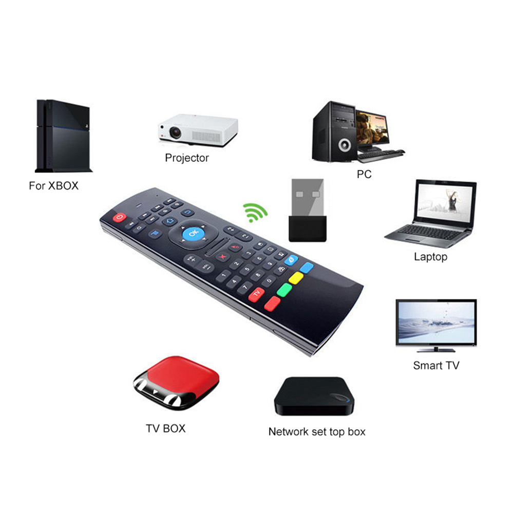 Image 2 - 2019 New Arrival MX3 Wireless Air Mouse Keyboard Controller for Smart TV Projector PC Laptop-in Keyboard Mouse Combos from Computer & Office