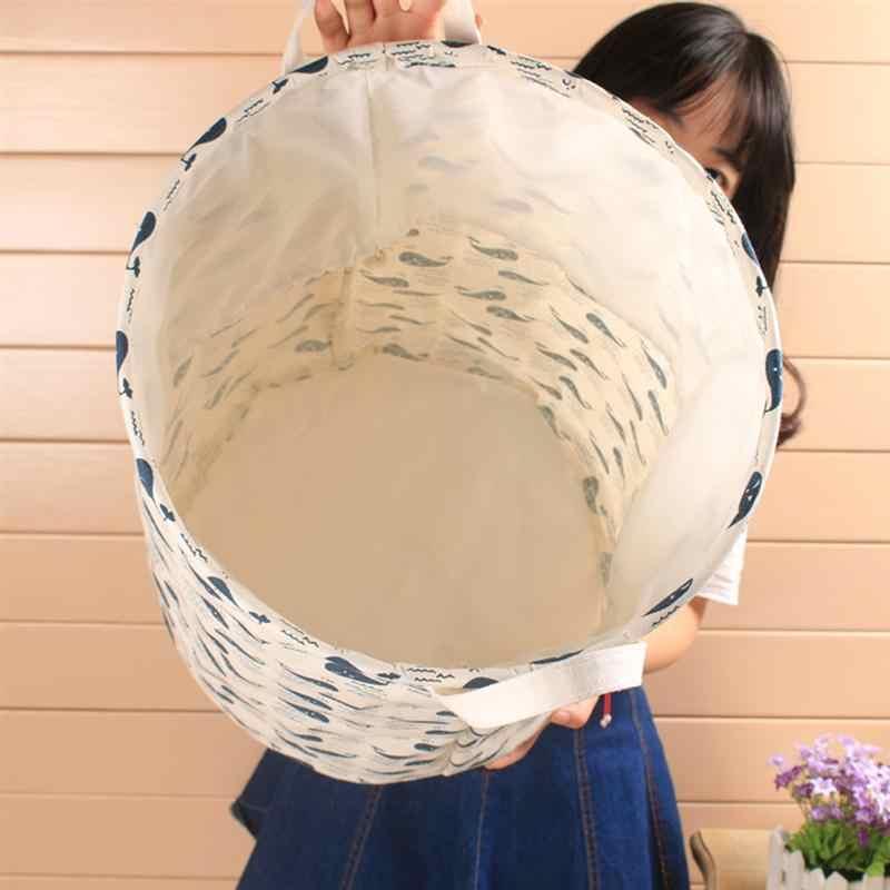 Dobrável Cesto de roupa suja Caixa De Armazenamento De Roupa Suja Cesta de Roupa À Prova de Poeira À Prova D' Água de Lavagem Bin para Casa de Banho Quarto