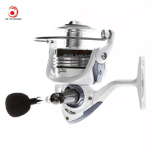 LIEYUWANG 13+1BB 5.1:1 Gear Ratio Full Metal Spinning Fishing Reel with Exchangeable Handle Automatic Folding for Casting Line
