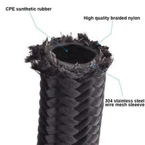 Image 5 - Kwaad energie AN4 AN6 AN8 AN10 Olie Brandstof Fittings Hose End Adapter 0/45/90/180 Graden connectors + Nylon Gevlochten Slang Lijn 5 Meter