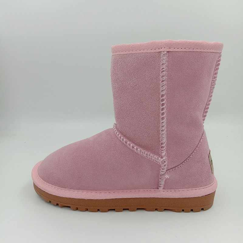 479e41b6c1f Kids Christmas Geanuine Leather Winter Snow Boots For Baby Warm Children  Real Cowhide Australian Boots Girls Boys Shoes 25-35