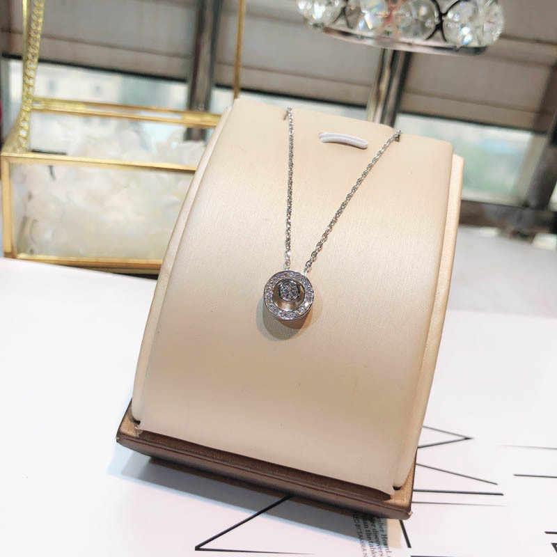 Trendy Designer Pure 925 Sterling Silver Necklace All Matching Women Quality Necklace Fashion Delicate Zircon Circle Pendant