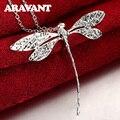 Neue Mode 925 Silber Schmuck Lange Libelle Anhänger Halsketten Ketten Für Frauen Valentinstag Geschenke