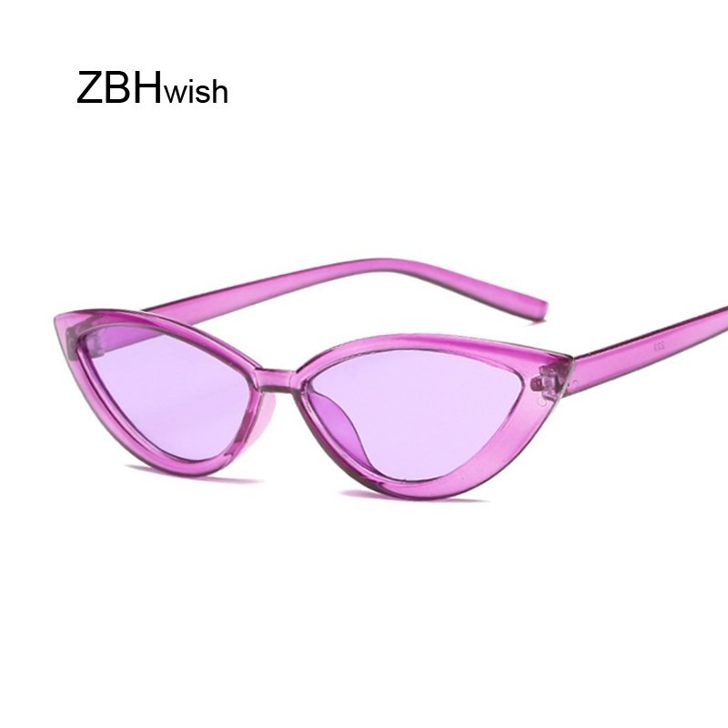 Candy Colors Sunglasses For Women Cat Eye Sun Glasses Brand Designer Fashion Female Eyewear Cool UV400 Gafas De Sol