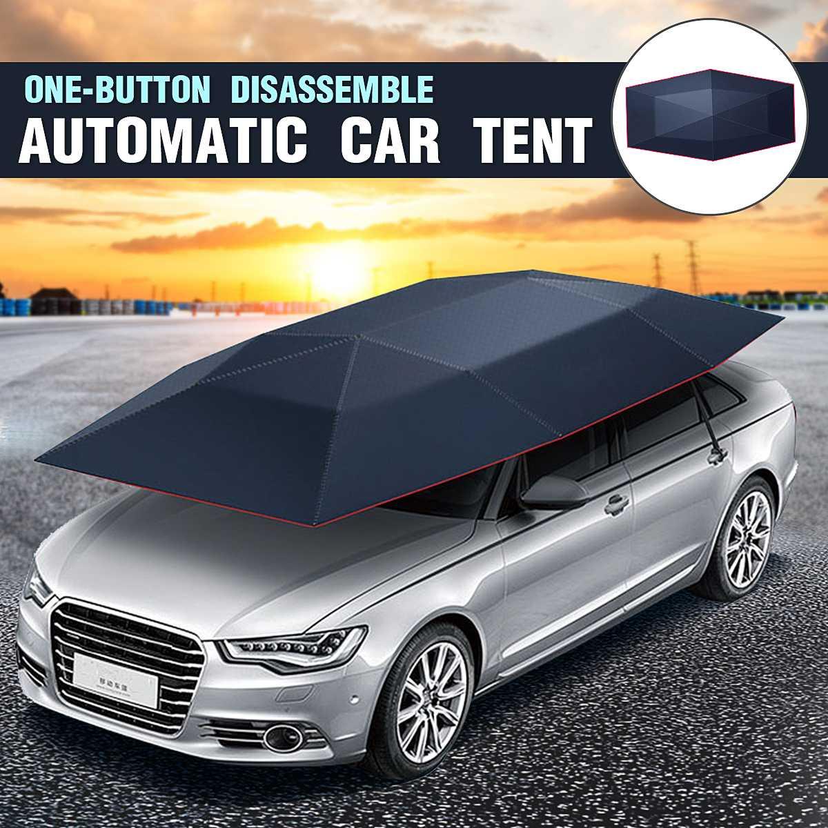 Automatique télécommande voiture parapluie tente soleil ombre auvent abri couverture SUV camion soleil ombre étanche pli voiture auvent tente