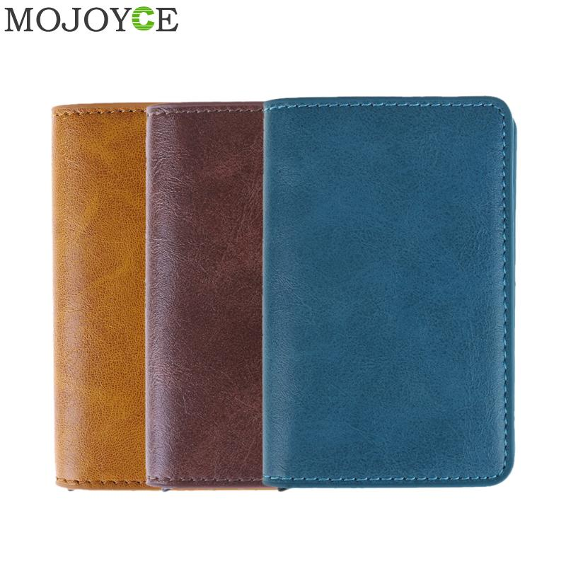 Male Metal Card Holder RFID Aluminium Alloy Credit Card Holder PU Leather Wallet Antitheft Men Automatic Card Case