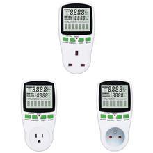 AC Power Meter 220V Digital Wattmeter EU Energy Meter Watt Monitor Analyzer Power Tool Voltage Current Tester EU/US/UK Plug