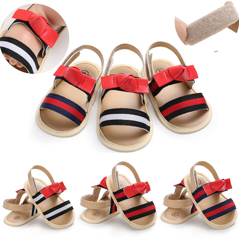 f3e2a44fe9e3 New Baby Girl Sandals Summer Baby Boy Shoes Cotton Leather Magic Stickers Baby  Girl Sandals Newborn