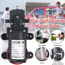 Small High Pressure Water Pump 12V 6L/min Diaphragm Automatic Switch Car Washer Pumps 10mm Agricultural Irrigation Sprayer Pump