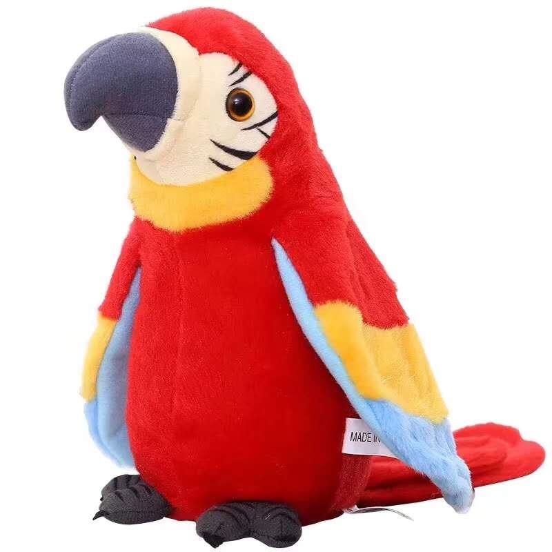 Dropshipping 3colors Stuffed Plush Parrot Speak Talking Record Cute Parrot Repeats Waving Wings Stuffed Plush Toy Kid Profit Small