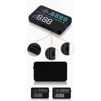 3.5 inch HUD Car Projector System Vehicle Mounted Smart Headup Display speedometer voltage ometer Clock odometer Head Up