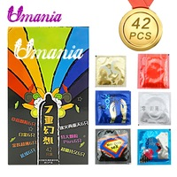 7 styles 42 Pcs Amazing Condoms Value High Quality Latex Condoms for Men Ejaculation Delay Adult Sex Toy safer CONTRACEPTION