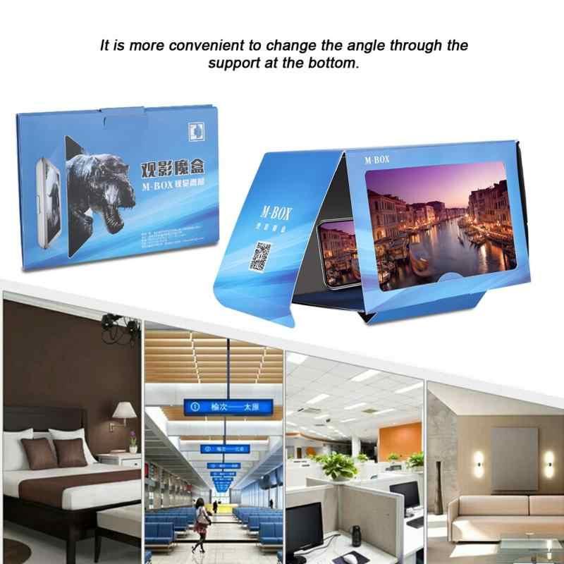 Phổ 8.2 inch Cao Độ Sắc Nét Gấp TỰ LÀM Điện Thoại Di Động Kính Lúp Video Magnifier cho iPhone XS XR Max 8 Cộng Với 7 6 s Đứng Chủ