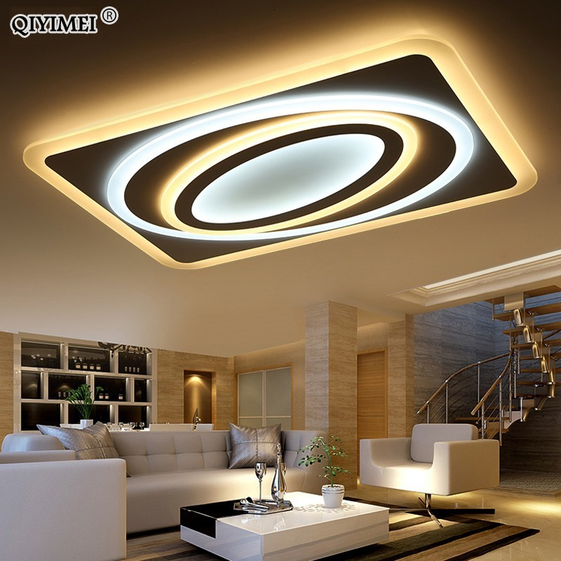 New Acrylic Dimming Ceiling Lights For Living StudyRoom Bedroom Home Dec plafonnier AC85 265V Modern Led