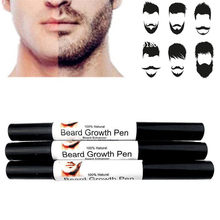 Professional Men Liquid Beard Growth Pen Men's Face Beard Enhancer Whiskers Face Nutrition Mustache Develop Drawing Pen TSLM2(China)