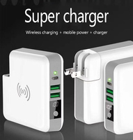 Multi function charger wireless charging mobile power supply with detachable charging head for iPhone 8 X XS Max Samsung millet