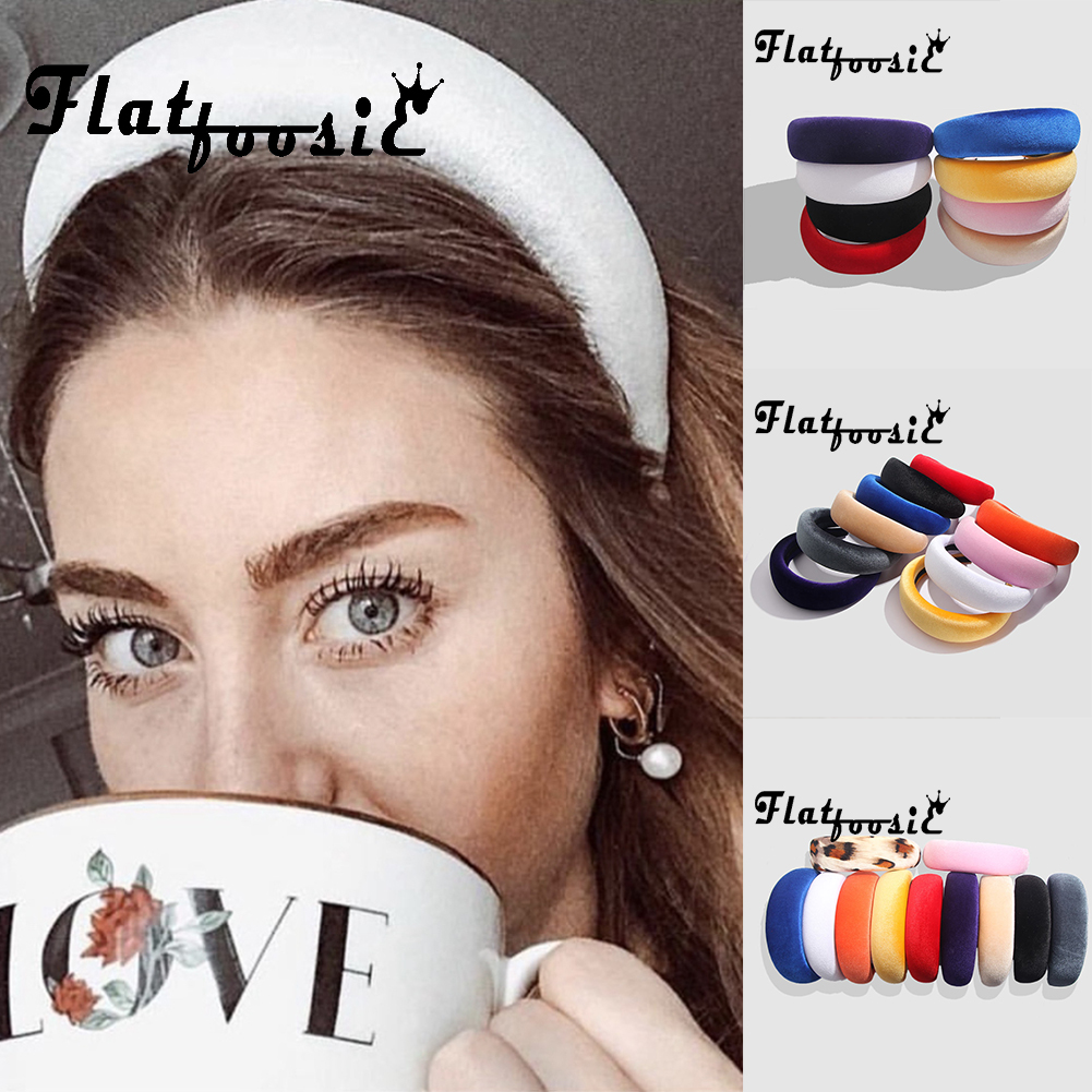 Flatfoosie 2019 New Thick Velvet Accessories Headband For Women Hair Plastic Hairbands Fashion   Headwear   Head Band Wedding Party