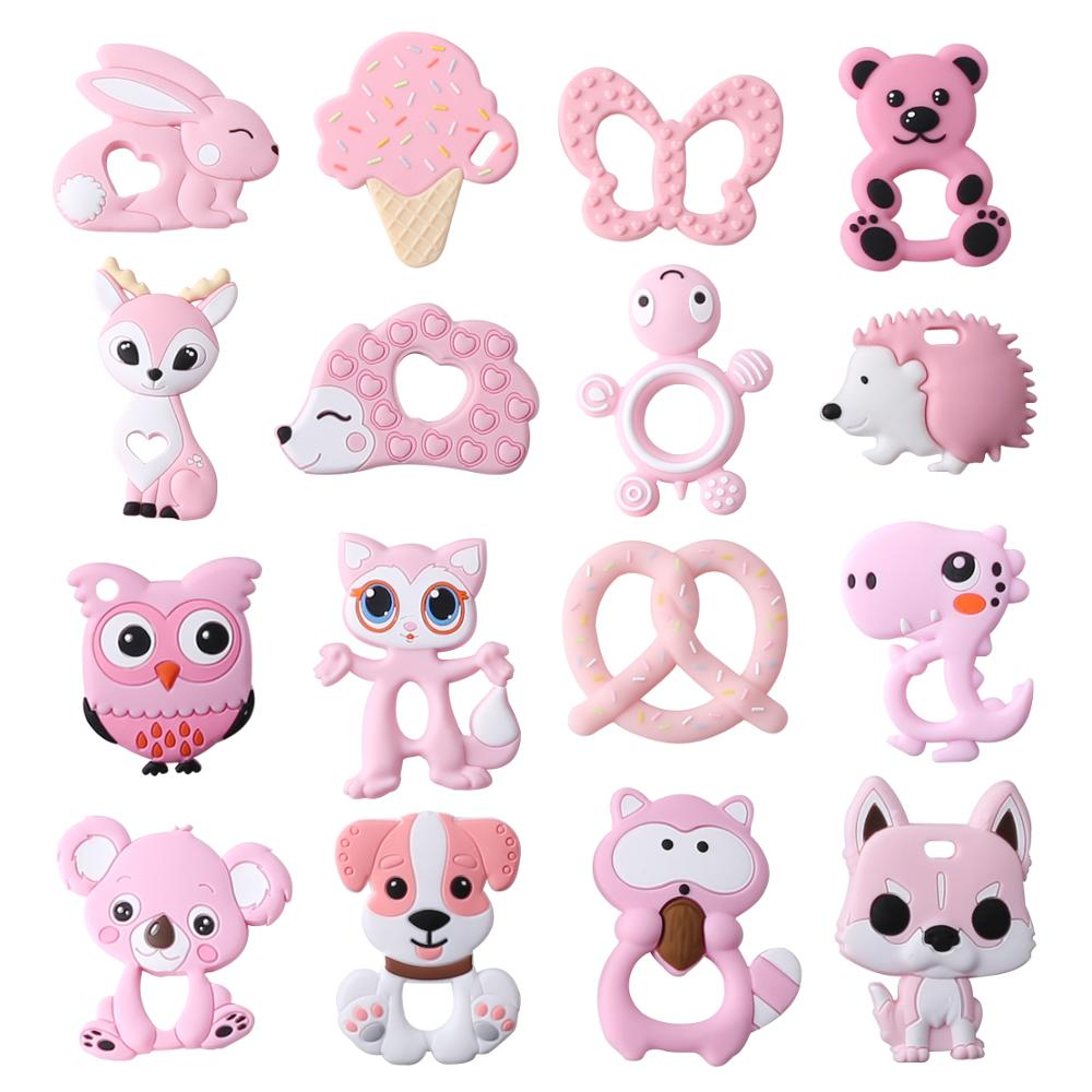Let's Make Baby Teether 1pc Rodent Cartoon Animal Food Grade Silicone Teether BPA Free Koala Bear Teether For Teeth Tiny Rod