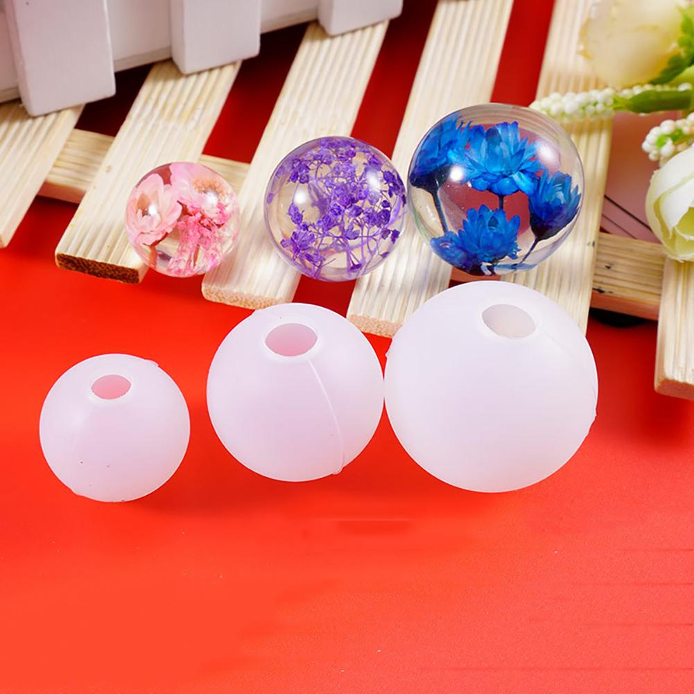 Quartz Drop Ball DIY resin Mold Silicone Mould Epoxy Resin Mold for Jewelry Making DIY Handmade Necklace