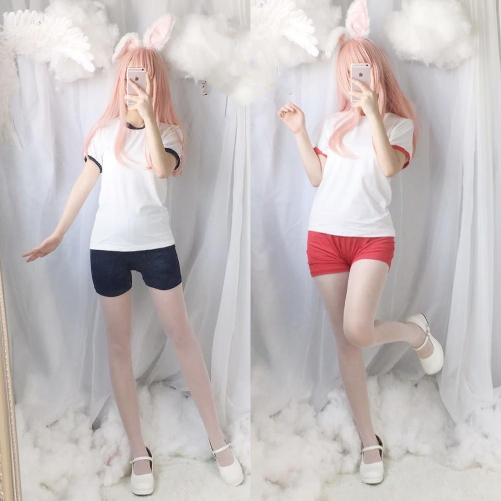 Japanese Sukumizu School Girl Sportwear Bloomers Inu Boku Secret Service Cosplay Jk Uniform Gym Suit Kasugano Sora Cosplay Suit