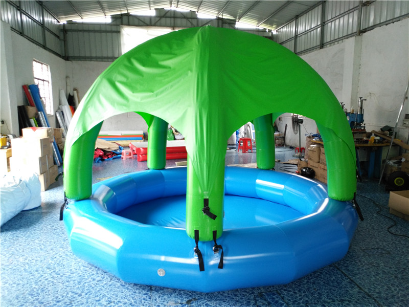 Outdoor mobile portable inflatable pool inflatable swimming pool inflatable tent combination toy