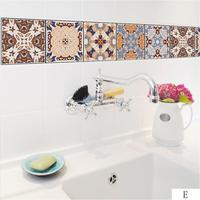 Adeeing 5 Set (25pcs) Simulate Tile Wall Sticker Art Mural For Hotel Home Kitchen Living Room Decoration
