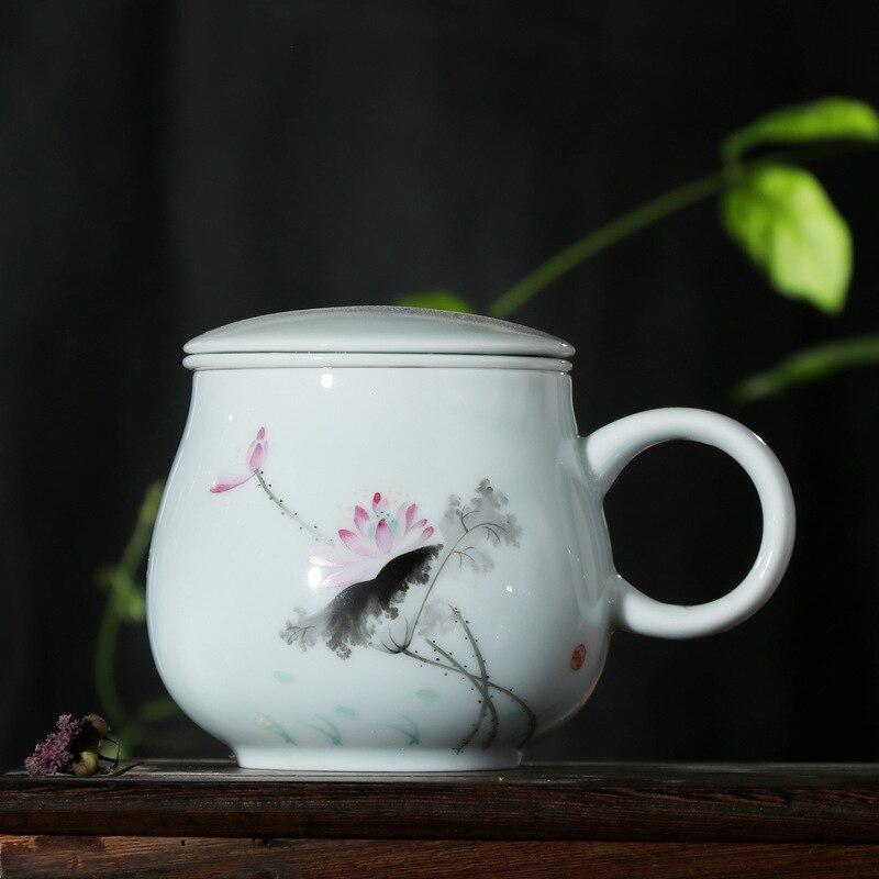 Thé céramique verre apporter couvercle filtre originalité Marc tasse Jindezhen bureau boisson thé Longquan céladon - 6