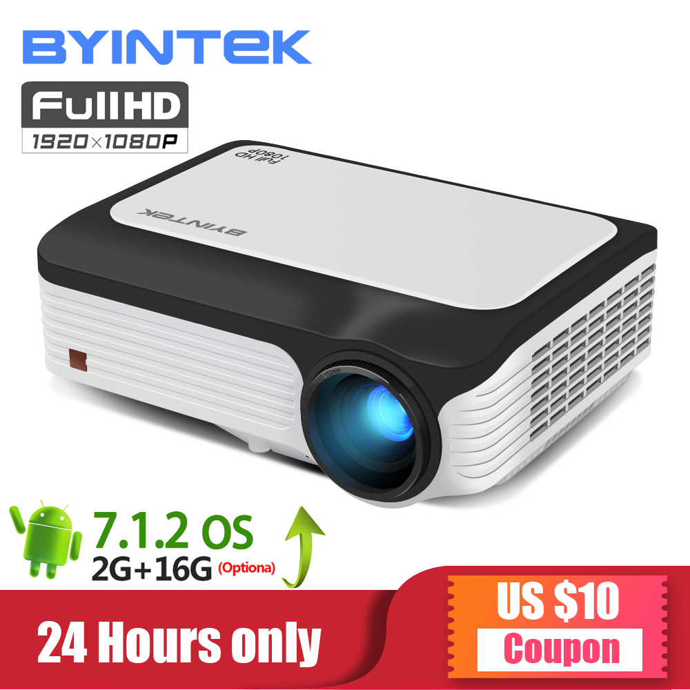 BYINTEK LUNE M1080 Intelligent Android WIFI FULL HD 1080 P Portable mini projecteur led 1920x1080 LCD Vidéo Option Pour Iphone smartPhone