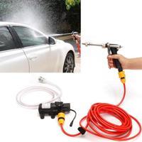 12V 80W Portable Water Gun Car Washer Electric Powerful Water Pump High Pressure Car Cleaner Wash Black
