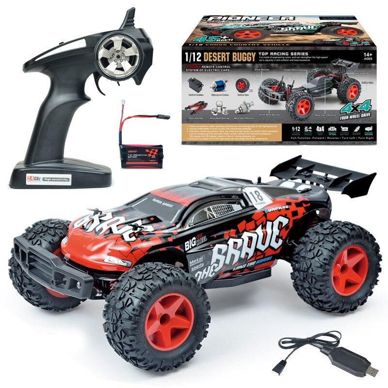Nouveau garçon adulte jouet BG1518 1:12 échelle 40-50 km/h quatre roues motrices étanche RC course Truggy haute vitesse Rc dérive voiture vs 94123 - 4