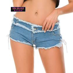 Новый шаблон сексуальные ковбойские шорты бар, ночной клуб Плотные брюки европейские джинсы Национальный флаг отверстия хип-хоп деним
