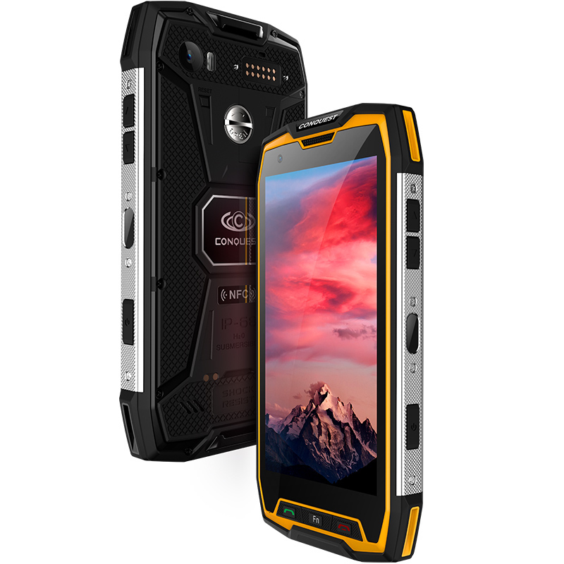 """Conquest S9 IP68 Waterproof Shockproof Mobile Phone 6GB+64GB/128GB 5.5"""" FHD MTK6757 2.6GHz octa core Android 7.1 4G Smartphone"""