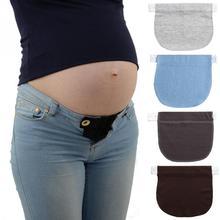 Пояс для беременных, эластичный, мягкий, для брюк, пояс с пряжкой, кнопка удлинения, для беременных женщин, для беременных, регулируемый