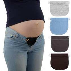 Для беременных пояс эластичный Extender Мягкие штаны ремень расширение пряжка кнопку удлинение беременных Для женщин Беременность