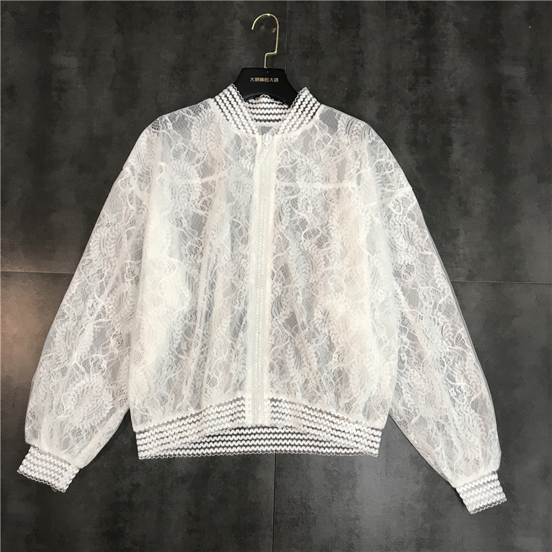 DEAT Shirt Jacket Spring Double-Mesh Fashion Women's Translucent Summer Casual New Sunscreen